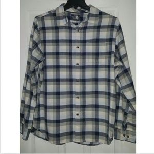 The North Face mens Cotton Shirt Plaid Large